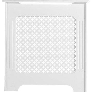 Cache-radiateur Classique en m�dium (MDF) blanc satin�, 83x78x18 cm