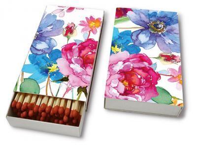 Kaminhölzer Blumen in Wasserfarbe - Servietten Versand Tischdeko Kerzen OnlineShop
