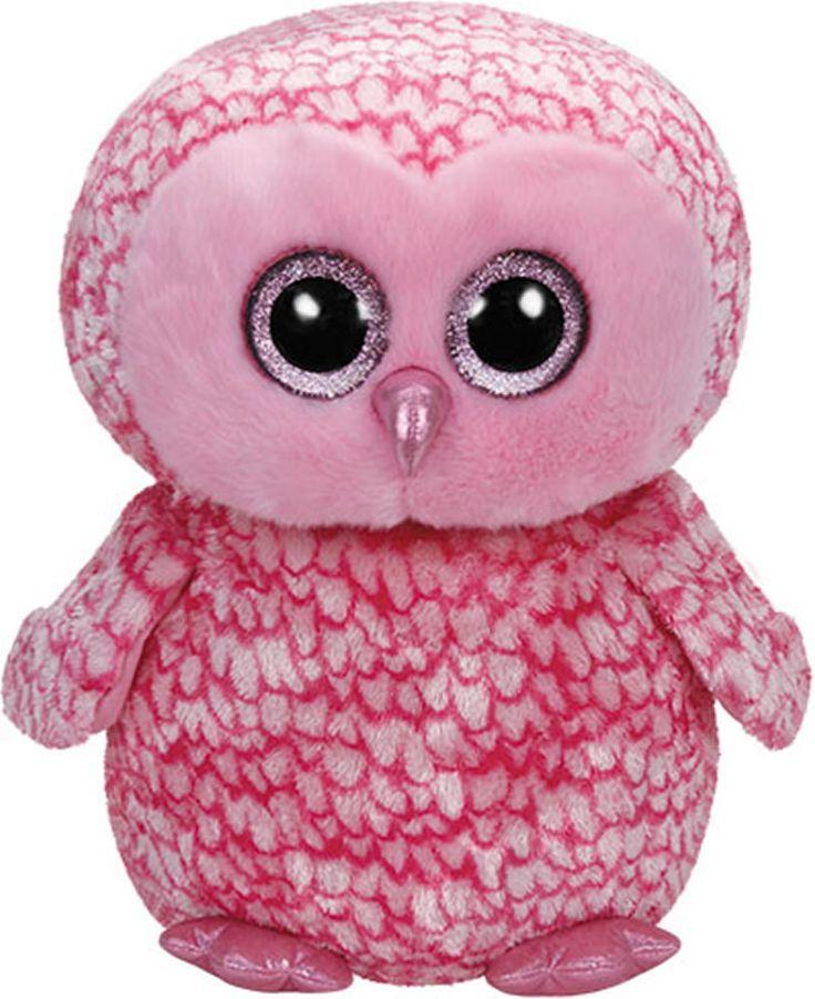 Ty Glubschi Beanie Boo´s Plüsch Eule Pinky 42 cm 36608