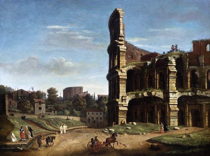 Caspar van Wittel - Rome: A View of The Colosseum