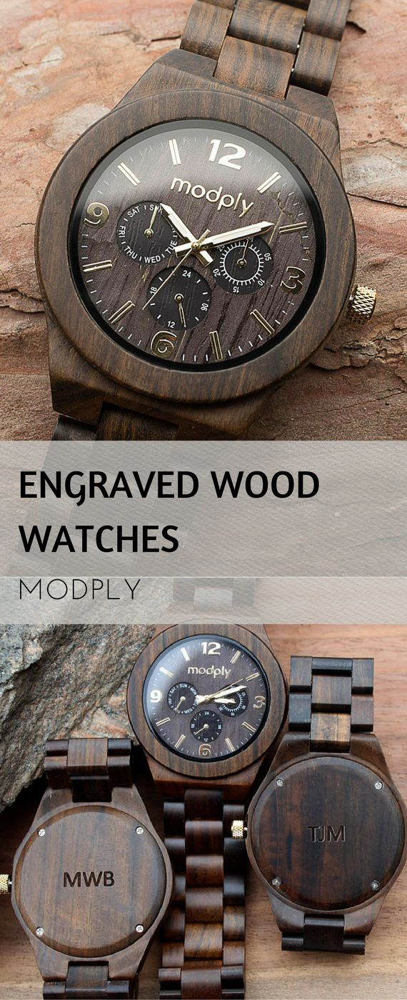 Wood watch engraved, Wooden Watch for Him, wooden watch man, Mens Wood Watch, Personalized Wood Watch, wooden man watch | Gifts for him | Gifts for dad | Christmas | Groomsmen Gift | #ad