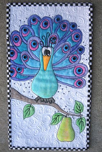 Peacock in a Pear Tree