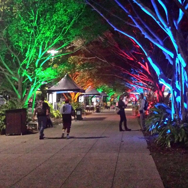 Cairns Esplanade by night is a magical experience!