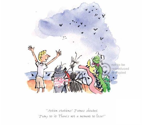 Roald Dahl Action Stations! James Shouted Limited Edition Print l Contemporary Art