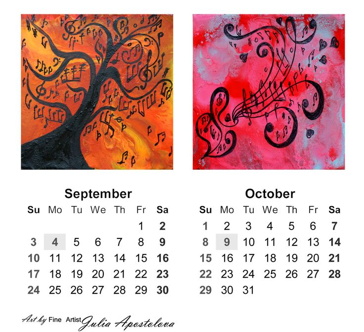 #ART #CALENDAR #2017,  #MusicAbstract #MusicalArt #SetofThree #MusicPaintings, #8x10 #Printable, Buy Two Get One #Free, #Downloadable, #NewYear #Gift, #ArtLovers, #WallArt #WallDecor, #DeskCalendar #Music #PrintableCalendar by #JuliaApostolova on #Etsy