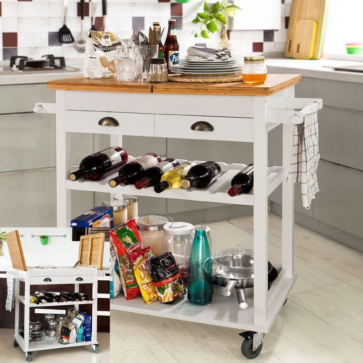 Die Besten 25+ Küchenwagen Weiß Ideen Auf Pinterest