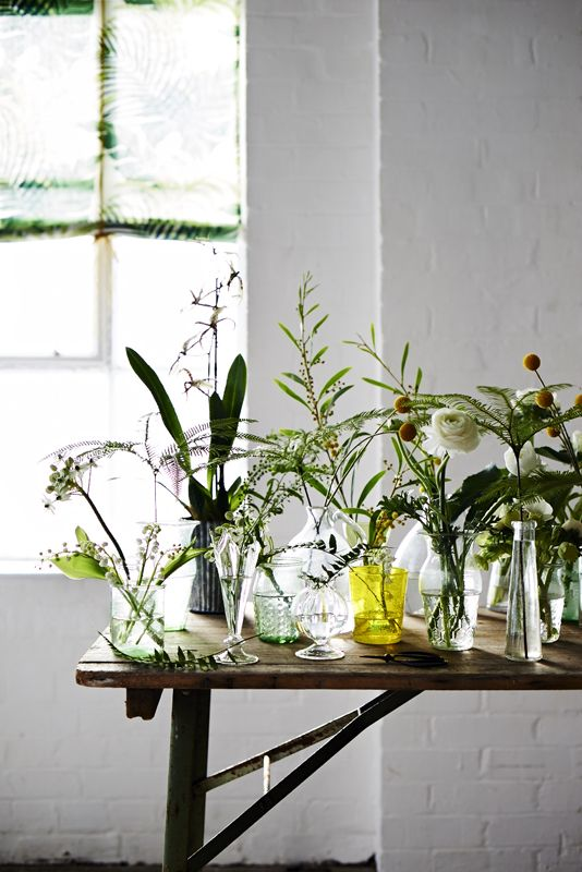 simple earthy floral arrangements: