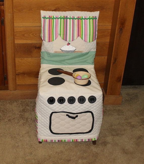 Play Kitchen Stove Chair Cover Cloth Kitchen Chair by woodhut