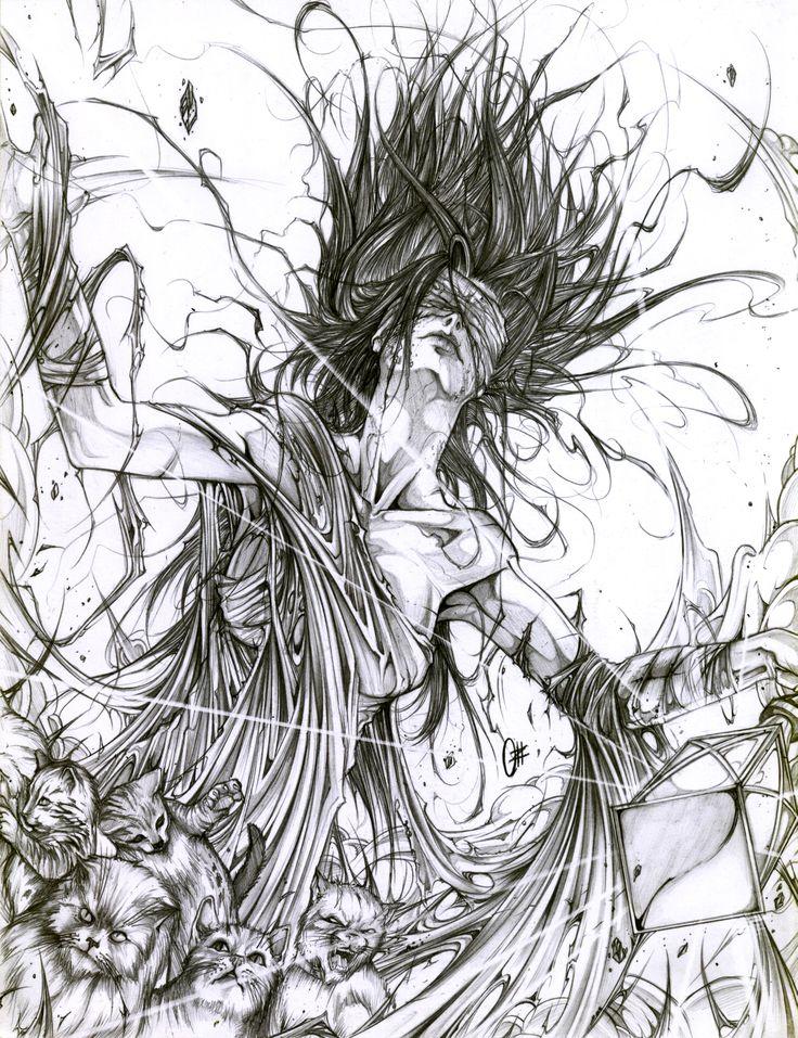 """Dama Gris"" ,. Personaje de ""TIERRAS VACIAS""... Concepto: Yavhe Alexander Arte: Ozkr Hdez"