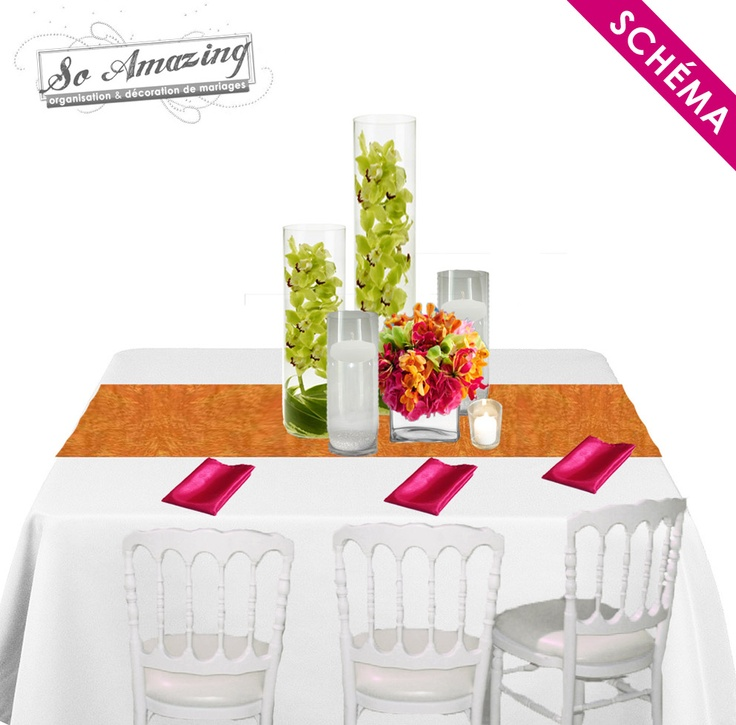 Les 25 meilleures id es de la cat gorie centres de tables - Decoration florale centre de table ...