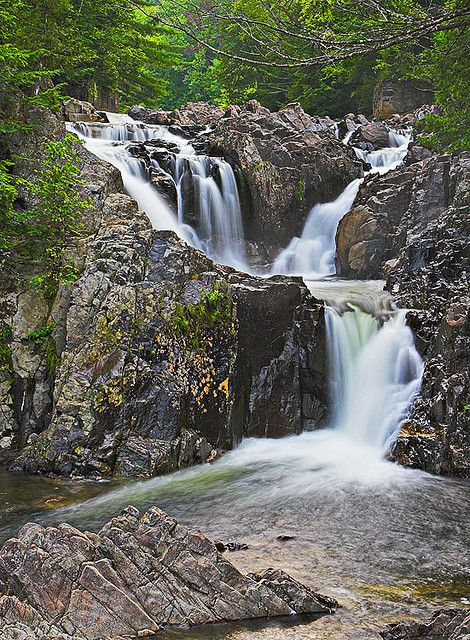 Split Rock Falls, Adirondack Park in Upstate New York.