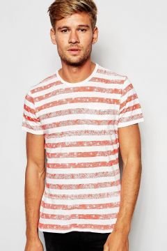 Pepe Jeans Bandana Stripe T-Shirt - Red https://modasto.com/pepe-heritage/erkek-ust-giyim-t-shirt/br42091ct88