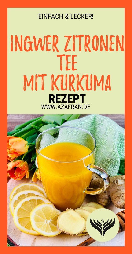 Ingwer-Zitronen Tee mit Kurkuma