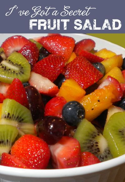 """I've Got a Secret"" Fruit Salad Recipe.  substitute out for vegan vanilla pudding"