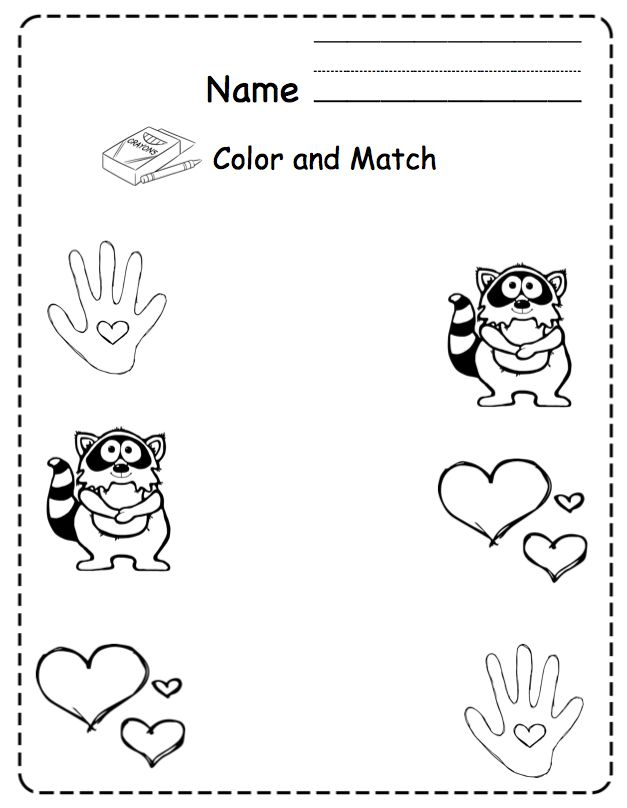 the kissing hand coloring pages - photo#29
