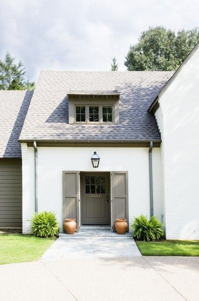 Color combo, a life's designBack Doors, Front Doors, Exterior Colors, Curb Appeal, Painting Colors, House Colors, White House, Design, House Exterior