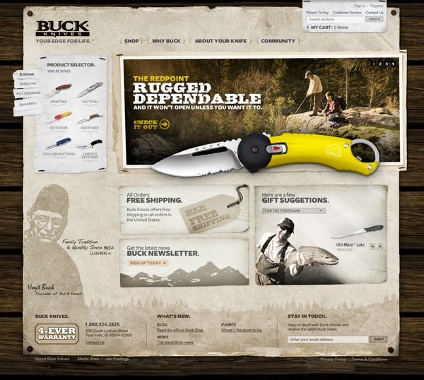 Buck Knives Site Redesign by Abe Levin, via Behance #webdesign #digital #web #behance