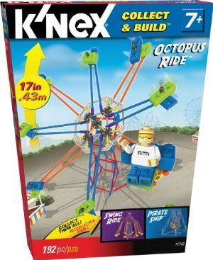 K'NEX Micro Amusment Octopus Ride Building Set by K'NEX. $29.95. 190+ K'NEX parts. Build your own miniature Octopus Ride. Perfect for builders ages 7+. From the Manufacturer                Build your own mini Amusement Park, starting with the Octopus Ride!  Loaded with over 190 K'NEX rods, connectors and bricks to build a miniature Octopus Ride.  Start your collection with the Octopus Ride, then get the Pirate Ship and Swing Ride too! Perfect for builders age 7 and up....