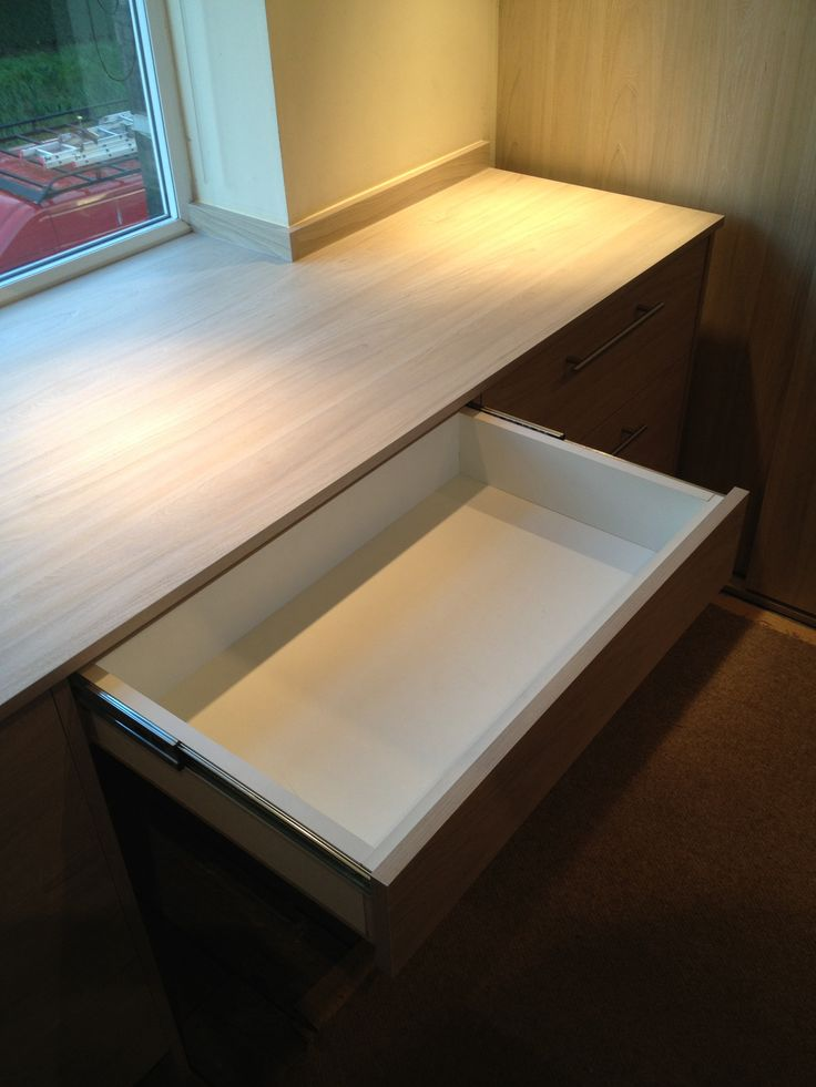 Bespoke bedroom dressing table with makeup draw
