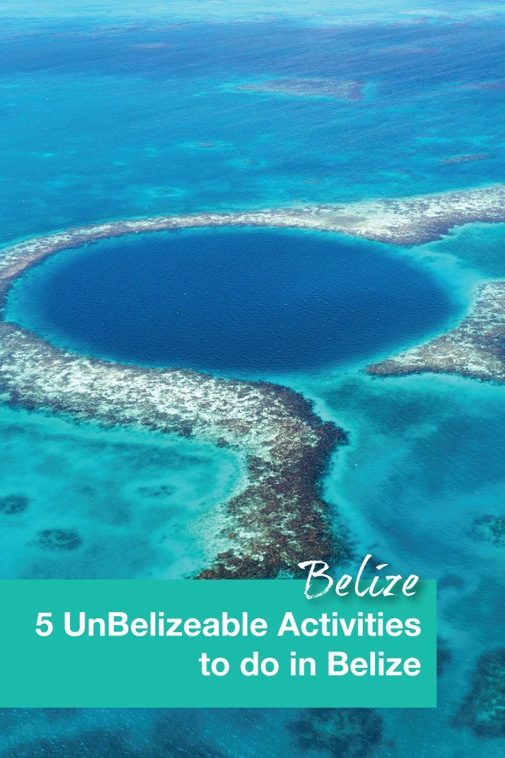 Belize has the 2nd largest barrier reef in the world. This is why diving or snorkeling is one of our must do activities in Belize.