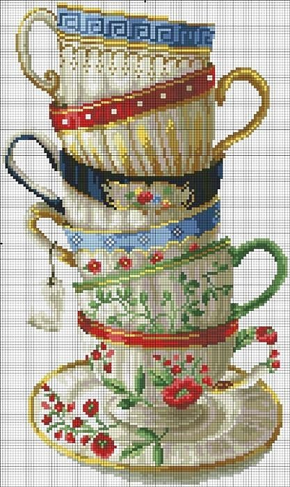No instructions but gorgeous cross stitch
