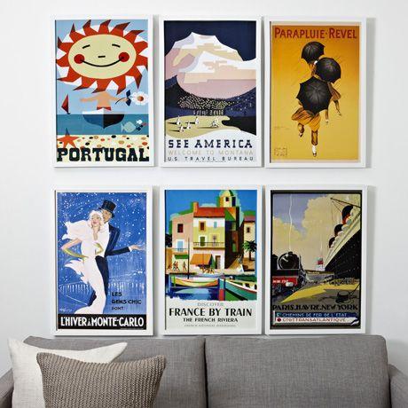 Vintage travel prints :: Freedom :: $88.95
