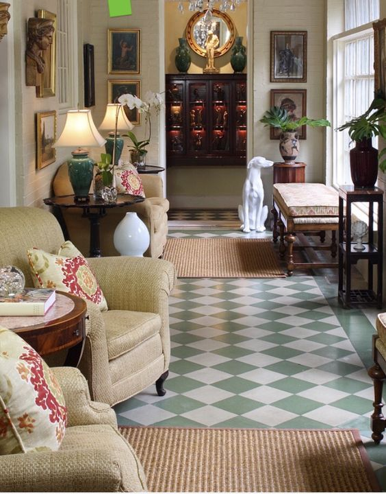 Love Those Floors Kinda Weird To Lounge In The Hallway Though Traditional Hall By Walter Studio Interior Design