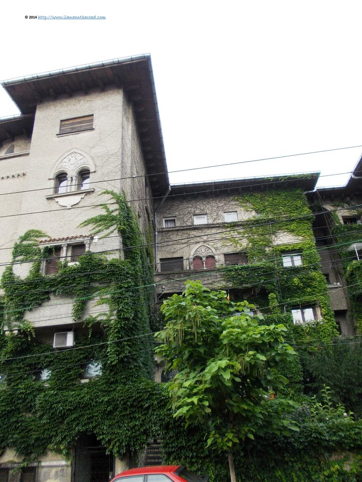 Houses on Popa Nan street. The house used to belong to the famous Romanian singer Maria Tanase