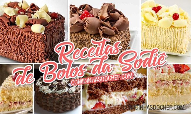 As receitas de bolos da Sodiê que eu vou te ensinar a fazer são genérico, bem parecidos com os originais. 7 Receitas de Bolos da Sodiê.