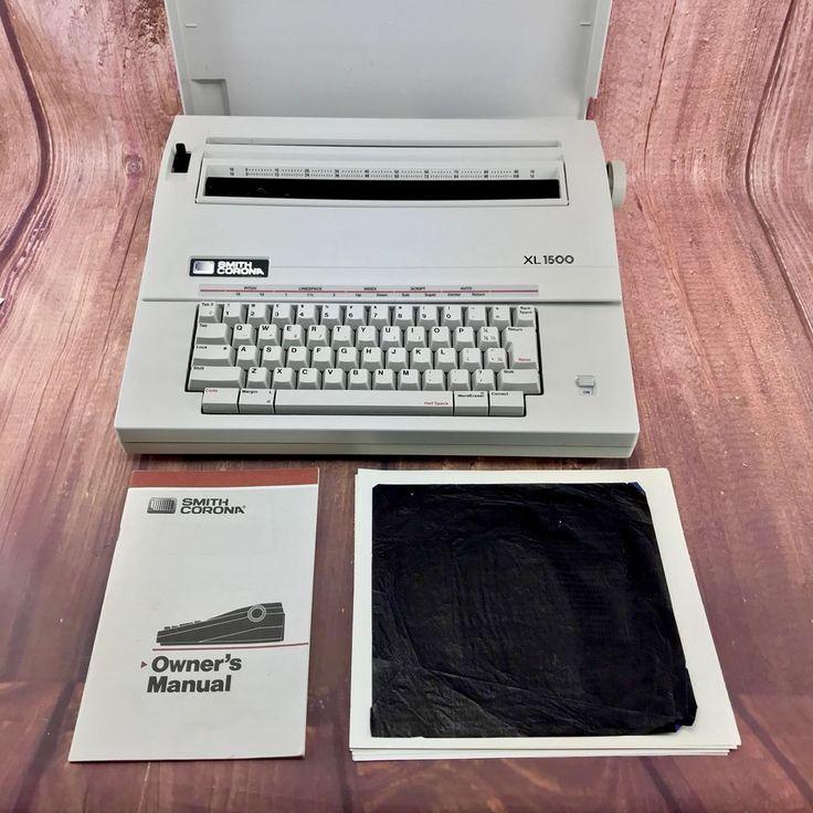 VINTAGE SMITH CORONA XL 1500 PORTABLE ELECTRIC TYPEWRITER MODEL 5AEE