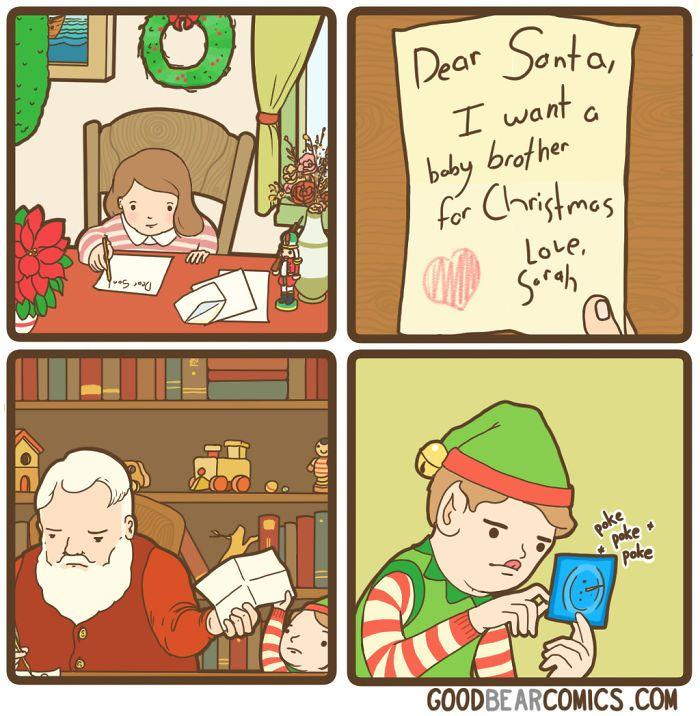 Good Bear Comics Christmas Memes Funny Funny Pictures Funny Comics