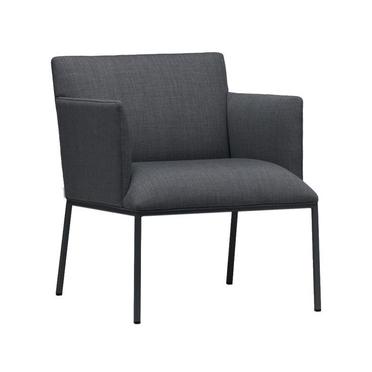 Tondo fåtölj - Tondo fåtölj - tyg svartgrå, svarta ben