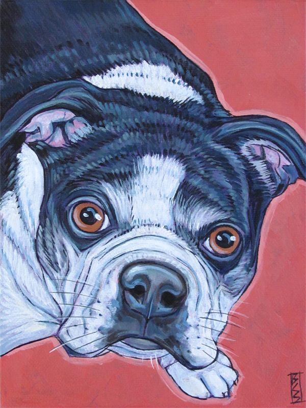 Dog Portrait Painting Art