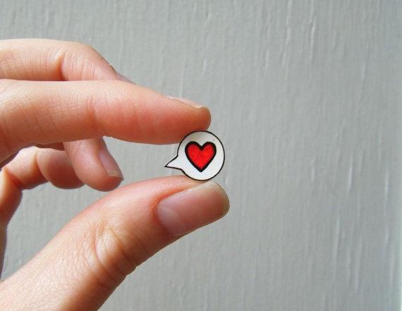 Earrings  Shrink Plastic   Heart Speech Bubble I by CandyBandits  - DIY idea
