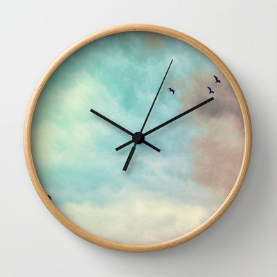 High in the sky Wall Clock by Silvia Ganora - $30.00