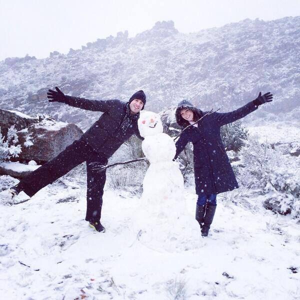 Do you wanna build a snowmaaaaan? Matroosberg fun via Amanda Kelley Stone