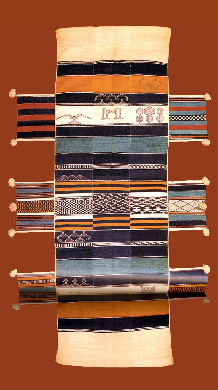 "Africa | Cotton hammock from the Mende or Sherbro people of Sierra Leone | Woven on the man's double-heddle loom of hand-spun yarn in weft-faced strips about 9""/23cm wide, with small areas of float weave and supplementary weft patterns 