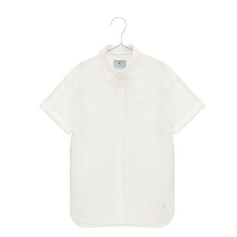 Classic linen shirt with a longer back