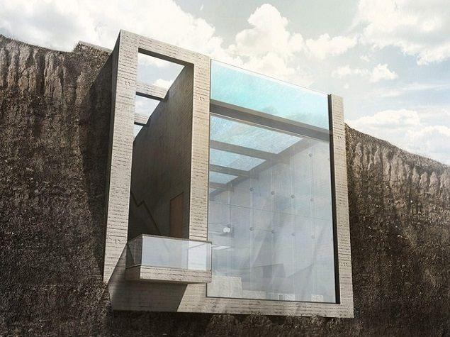 La villa de r ve casa brutale et sa vue vertigineuse sur for Baies vitrees