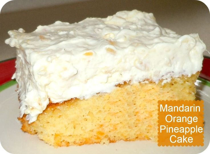 Mandarin Orange Pineapple Cake Recipe | Confessions of a Semi-Domesticated Mama