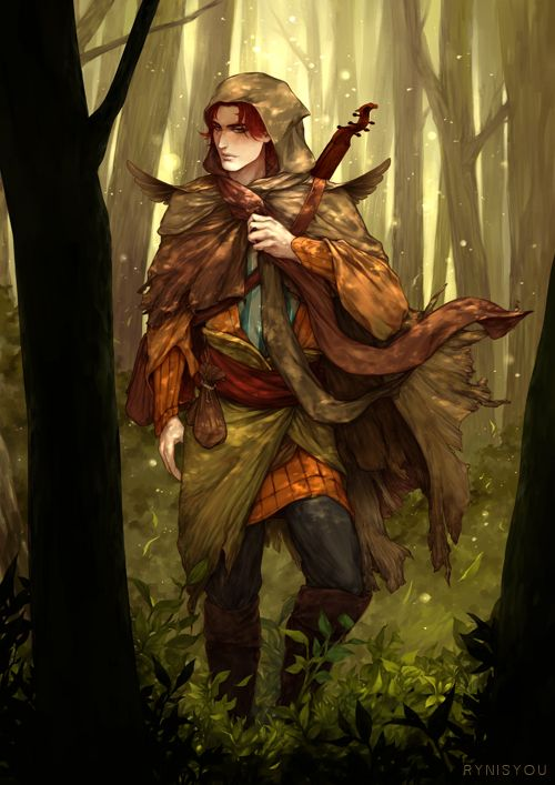 Kvothe (The Kingkiller Chronicle) by rynisyou armor clothes clothing fashion player character npc | Create your own roleplaying game material w/ RPG Bard: www.rpgbard.com | Writing inspiration for Dungeons and Dragons DND D&D Pathfinder PFRPG Warhammer 40k Star Wars Shadowrun Call of Cthulhu Lord of the Rings LoTR + d20 fantasy science fiction scifi horror design | Not Trusty Sword art: click artwork for source