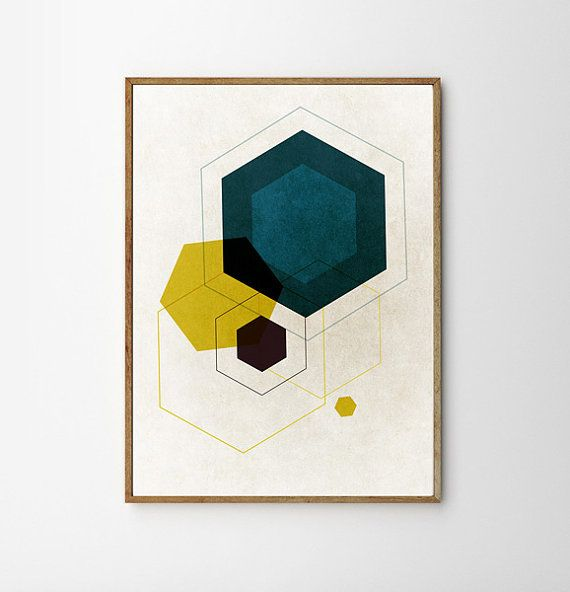 Items Similar To Mid Century Art Living Room Retro Geometric Scandinavian Print Minimalist Eames Abstract Wall Decor Midcentury Modern