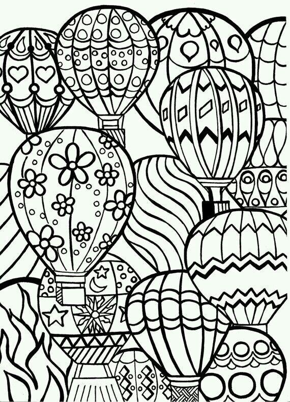 Coloring, zentangle, doodle