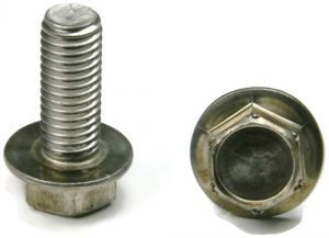 #12-24 Hex Serrated Flange Bolt 18-8 Stainless Steel