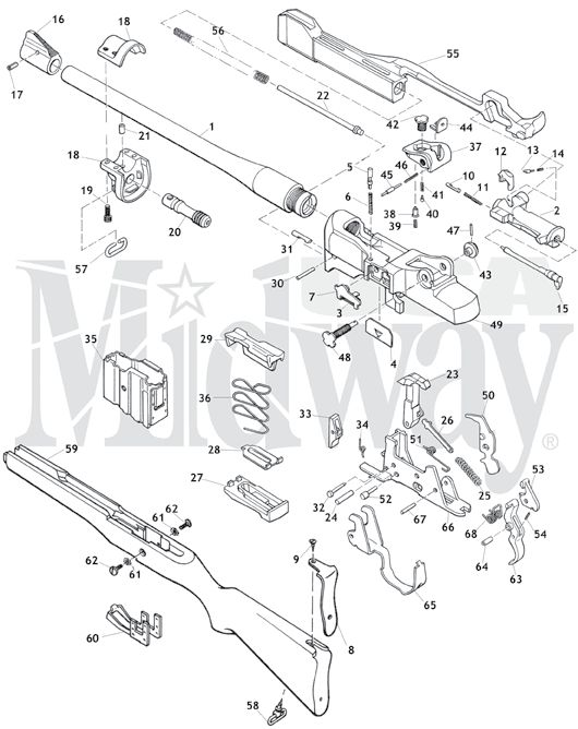 Ruger Mini-14 Exploded diagram/parts list