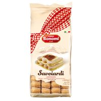 "Known in Italy as ""Savoiardi"", ladyfingers are sweet, fairly dry, finger-shaped sponge cakes. Ladyfingers are often used in making the classic Italina Tiramisu, or enjoying with a cup of your favourite coffee or tea."