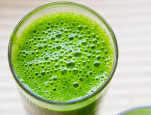 Place all ingredients in a blender and blend on high for 2-3 minutes, until smooth. You will hear the aliveness of this elixir after freshly blending. It literally bubbles & breathes with vibrancy!    The beauty of this recipe is its versatility! Sensitive to cilantro? Replace it with kale! or add kale to the whole mix. Feel free to leave anything out, if it is not to your tastes as no one single ingredient, other than the grapes, makes or breaks here. But every ingredient li