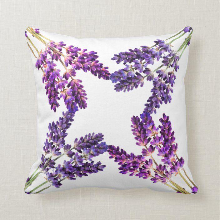 Dancing Lavender Throw Pillow Zazzle Com Lavender Throw Pillows Throw Pillows Custom Pillows