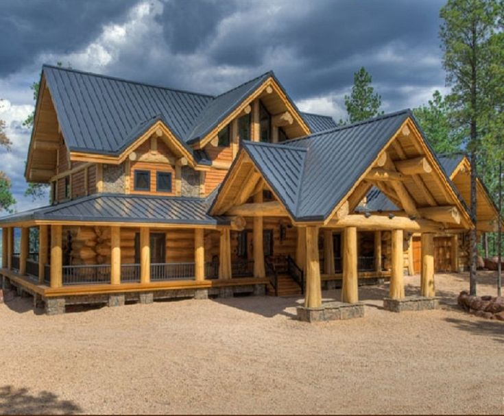 Exterior Quality Log Cabins And Timber Frame Houses From