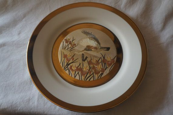 Vintage Keito fine china plate with 22kt gold by Alscollectables